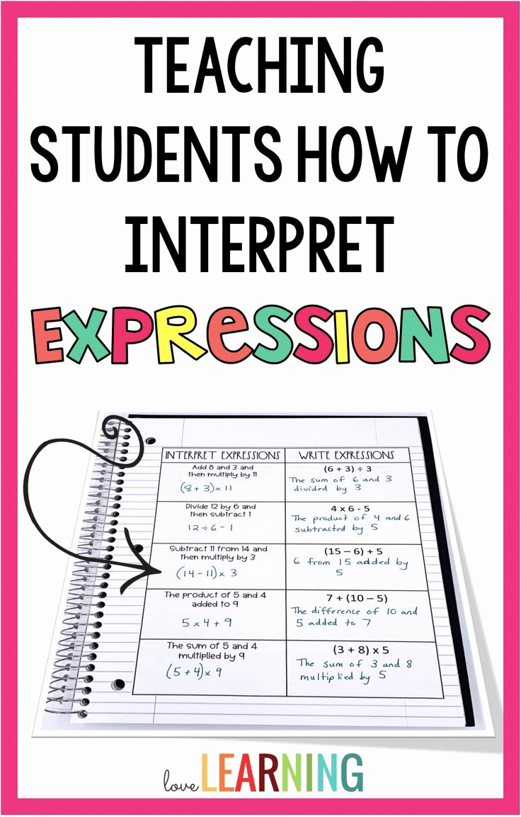 Writing Numerical Expressions Worksheets Inspirational Writing Numerical Expressions 5th Grade Worksheets