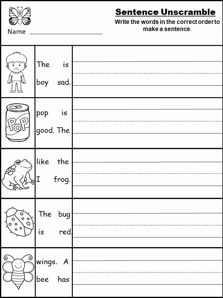 Writing Sentences Worksheets Elegant Free Sentence Writing Worksheet Archives Kindermomma