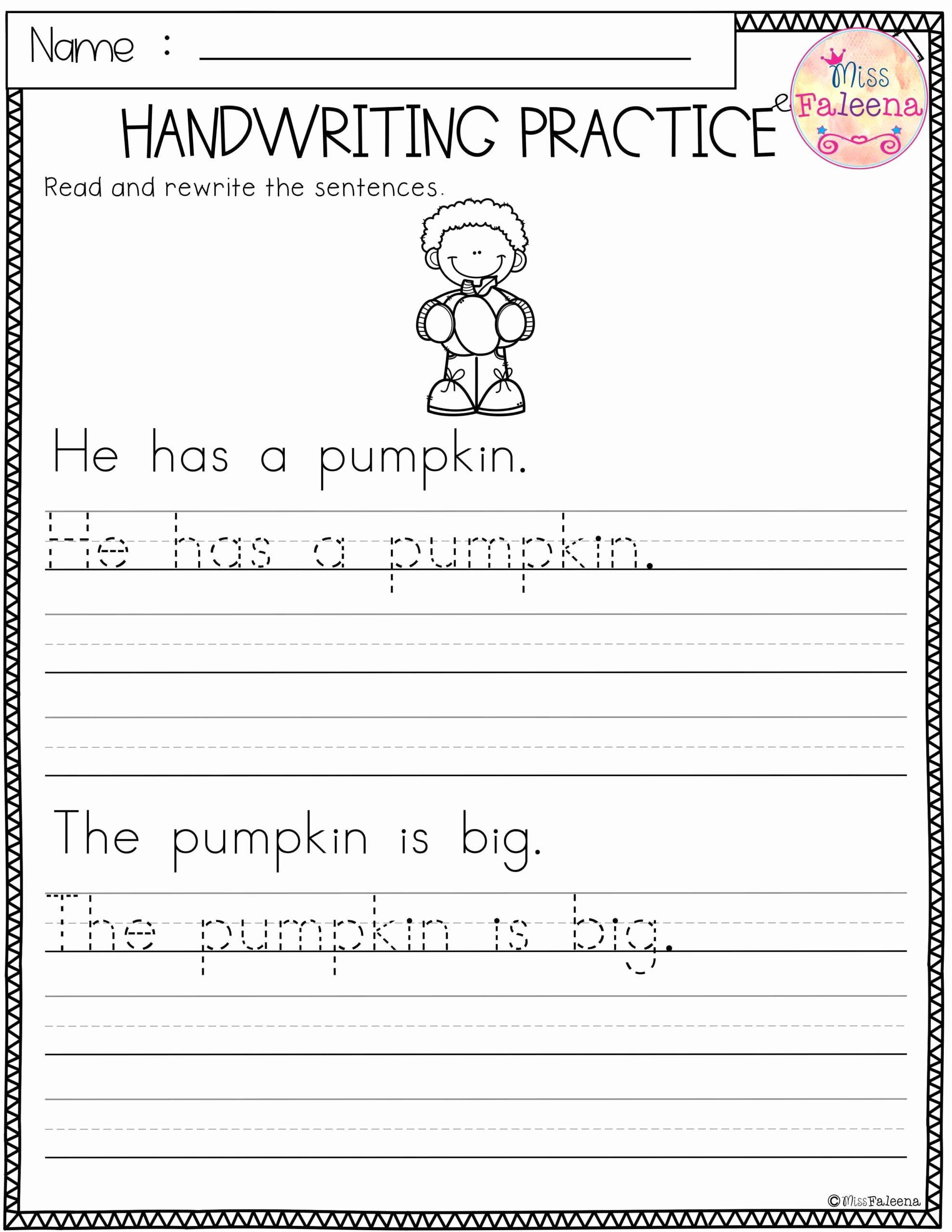 Writing Sentences Worksheets Inspirational Sentence Tracing Worksheets