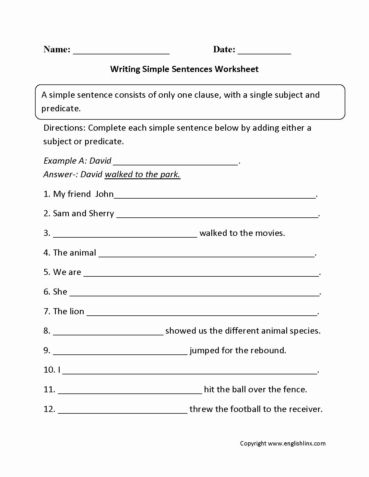 Writing Sentences Worksheets Inspirational Sentences Worksheets