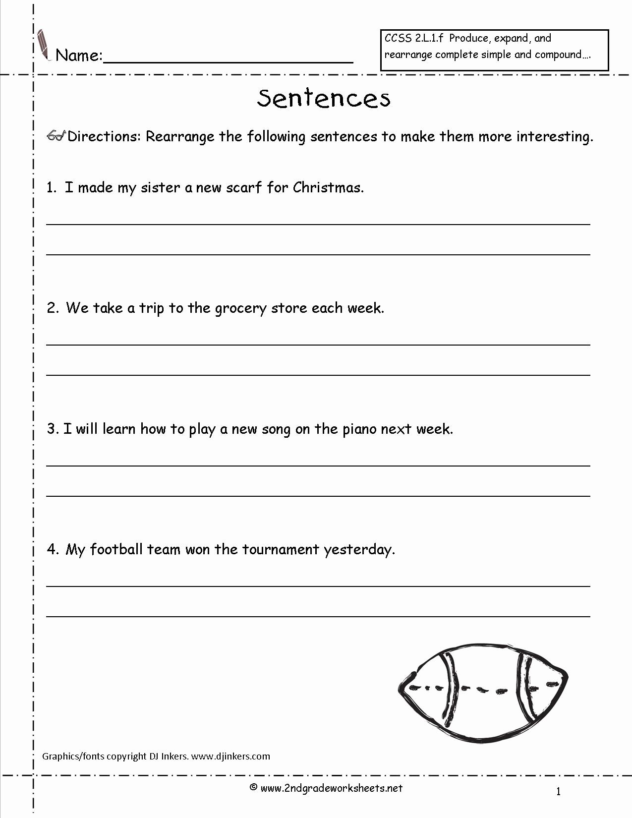 Writing Sentences Worksheets Luxury 16 Best Of Copy Sentence Worksheet First Grade