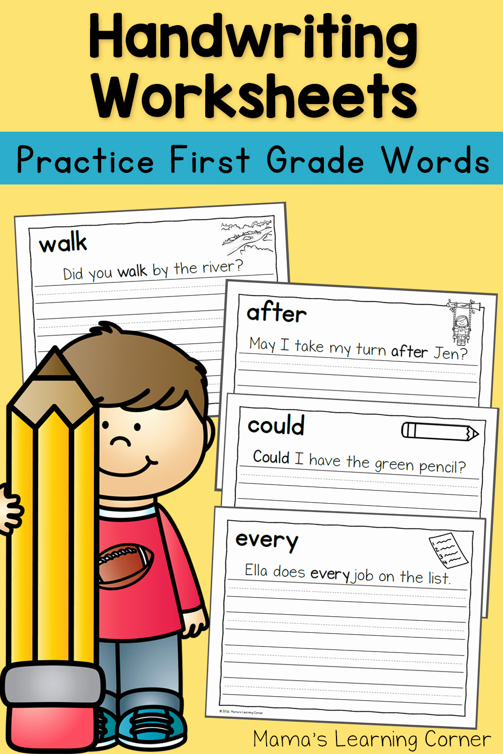 Writing Worksheet 1st Grade Beautiful Handwriting Worksheets for Kids Dolch First Grade Words