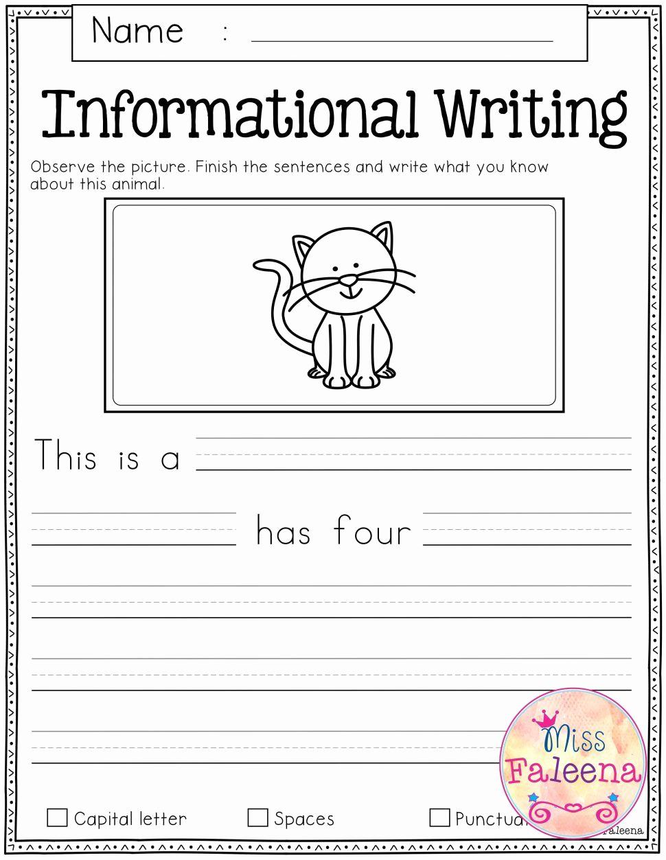 Writing Worksheet 1st Grade Fresh Printable Writing Worksheets for 1st Grade
