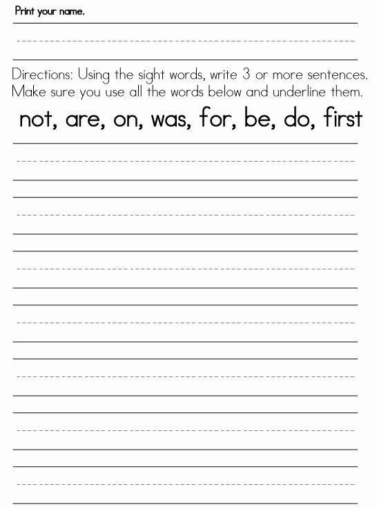 Writing Worksheet 1st Grade Lovely Printable Writing Worksheets for 1st Grade Book Report