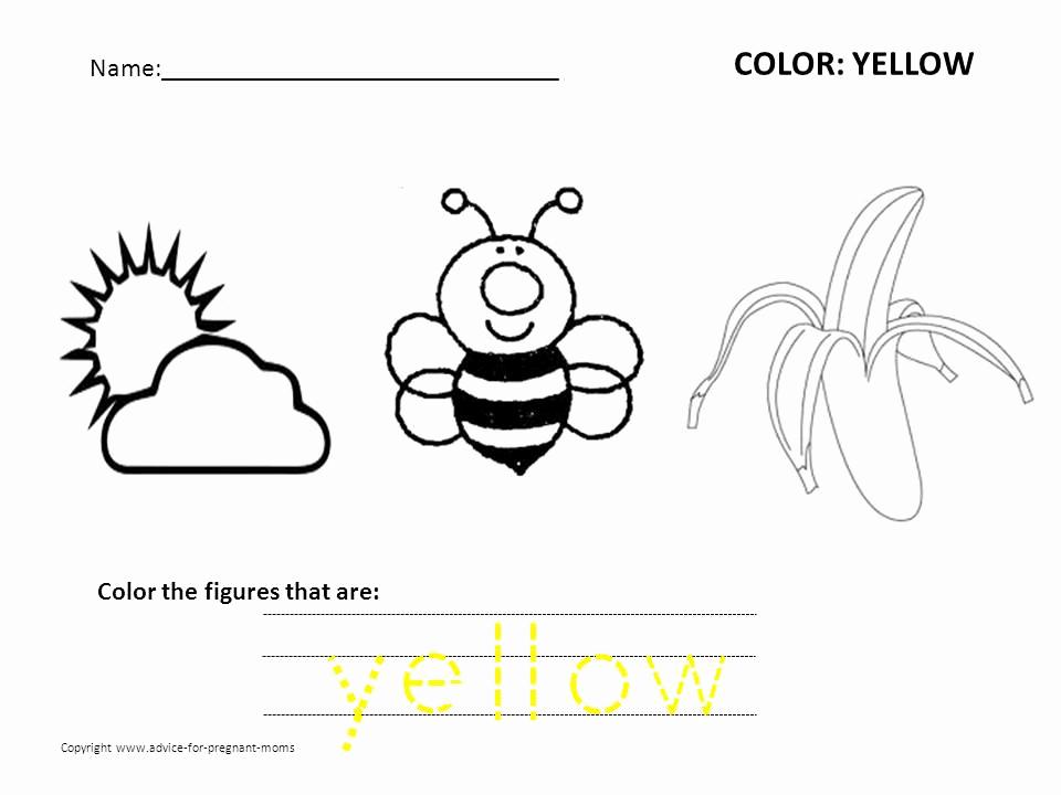 Yellow Worksheets for Preschool Best Of Free Preschool Worksheets for Learning Colors