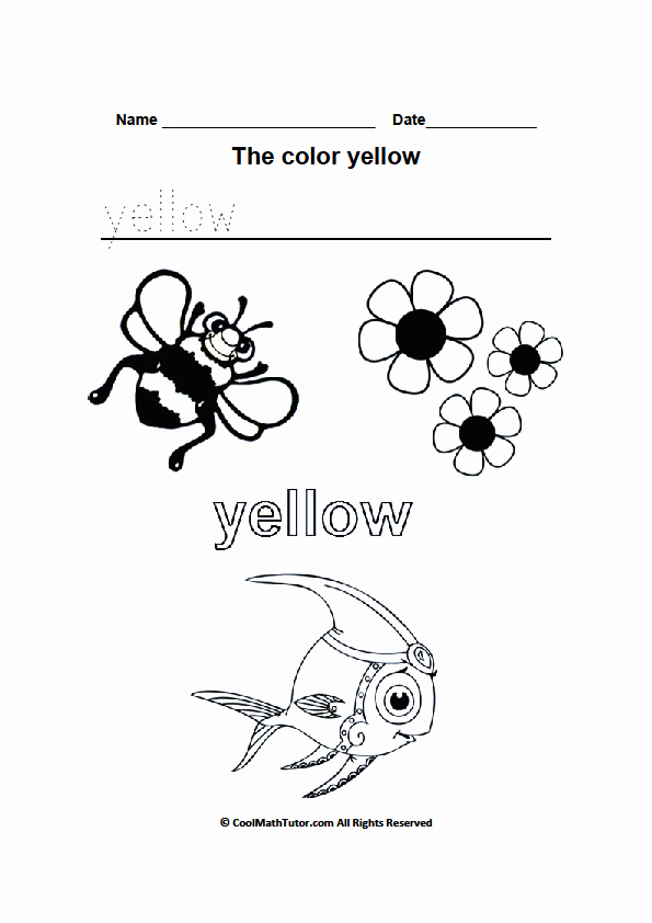 Yellow Worksheets for Preschool Fresh Color Yellow Worksheets for Kindergarten