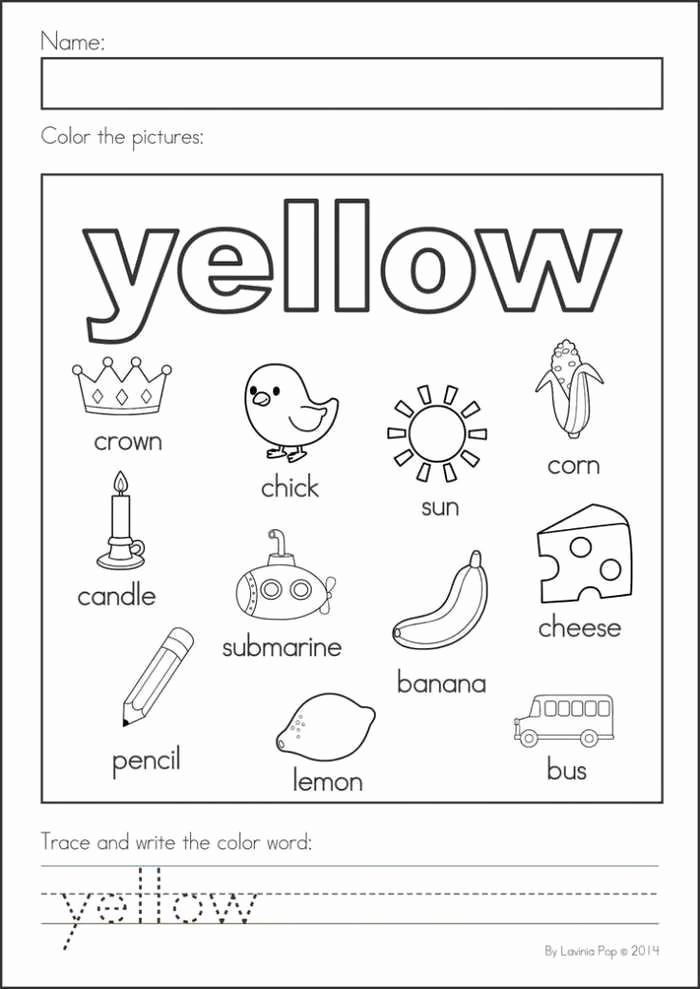 Yellow Worksheets for Preschool Fresh Worksheet Yellow Best Worksheet