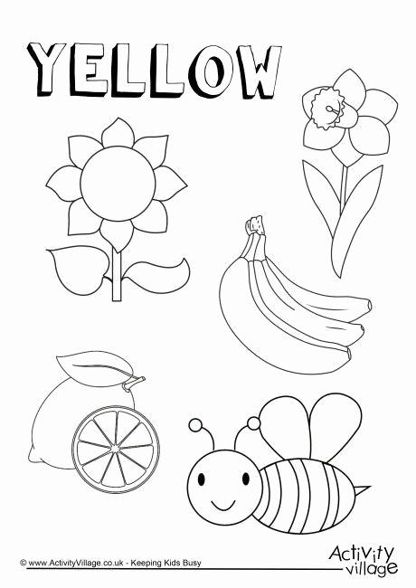 Yellow Worksheets for Preschool Fresh Yellow