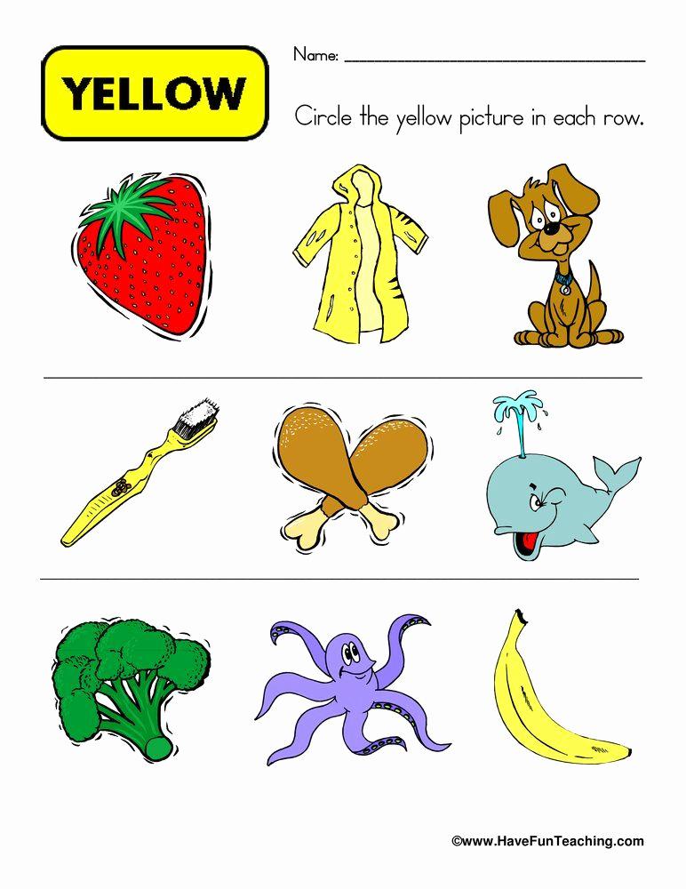 Yellow Worksheets for Preschool Lovely Pin On Preschool