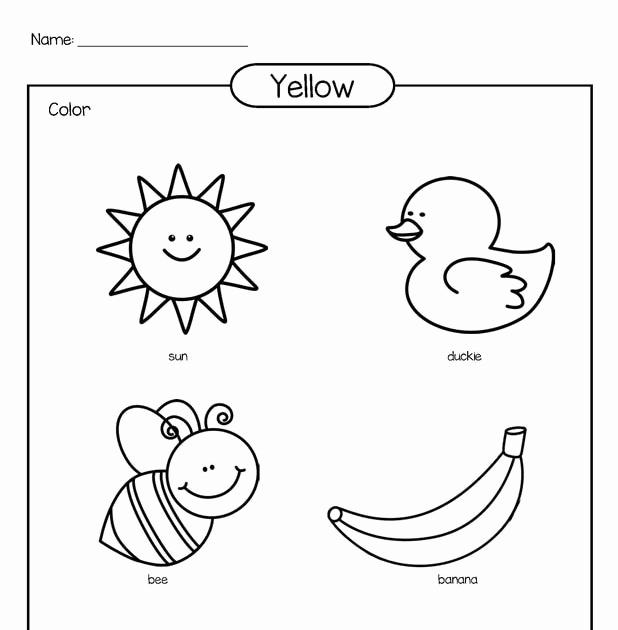 Yellow Worksheets for Preschool Lovely Preschool Worksheet Gallery Color Yellow Worksheets Preschool