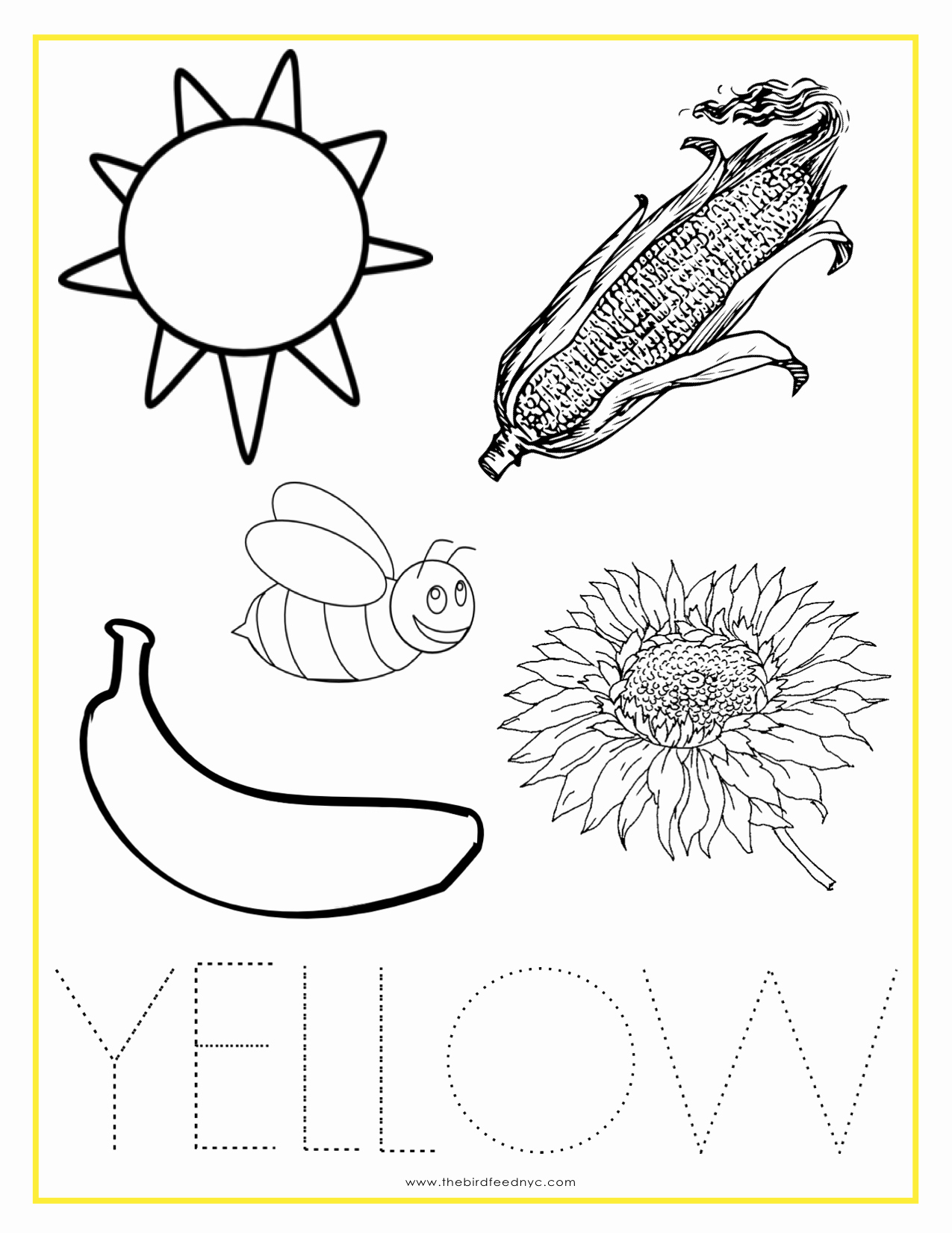 Yellow Worksheets for Preschool Unique Yellow Color Activity Sheet Repinned by totetude